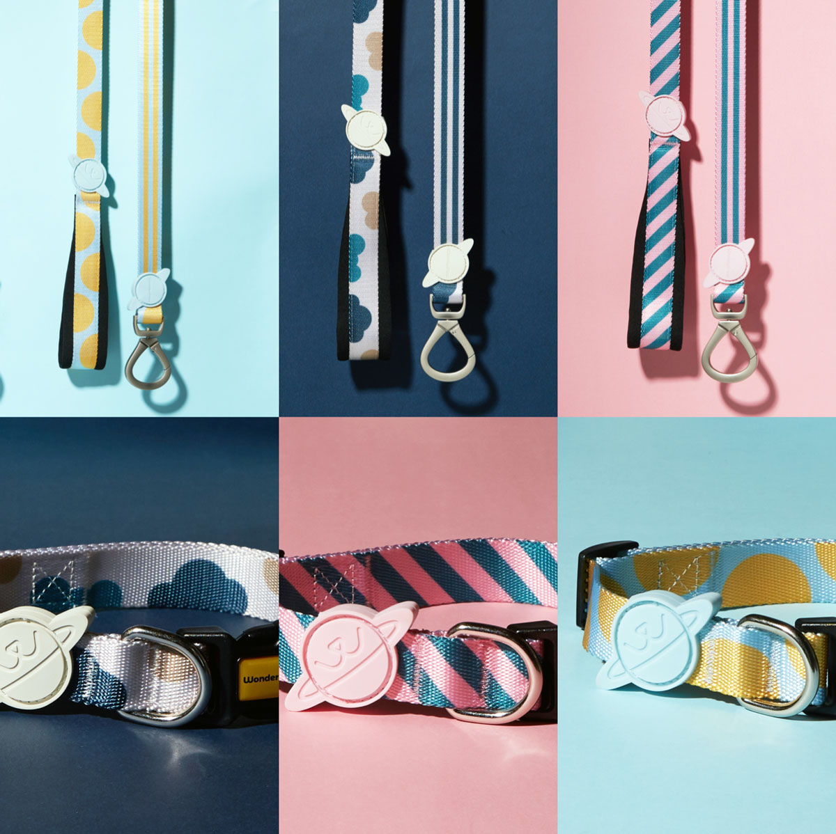 The 3 new collections of WonderPaw collar & leash set with added sizes are now available